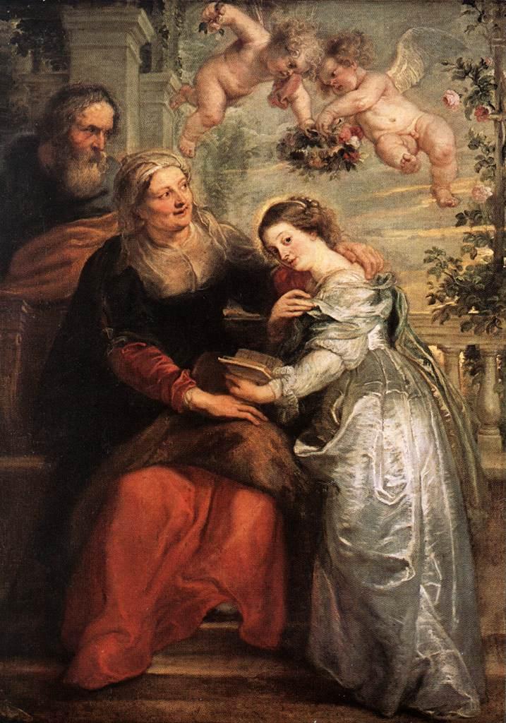 RUBENS Pieter Pauwel The Education of the Virgin