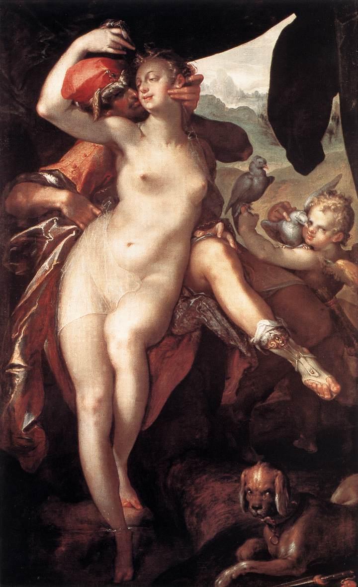 SPRANGER Bartholomaeus Venus and Adonis