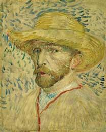Self Portrait with Straw Hat, Paris 1887 - Vincent Van Gogh