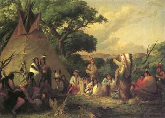 Seth Eastman The Indian Council