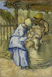 Sheep Shearer (after Millet), St. Remy 7/1889 - Vincent Van Gogh