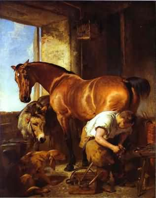 Sir Edwin Henry Landseer Shoeing