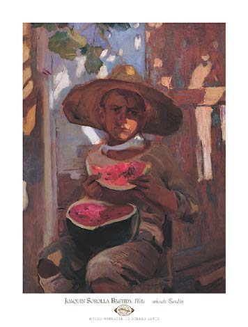 Sorolla Y Bastida Joaquin Nino Comiendo sandia