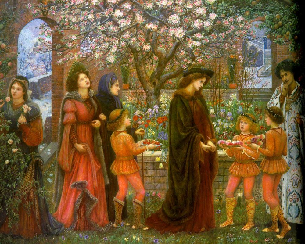 Stillman Marie Spartali The Enchanted Garden of Messer Ansaldo