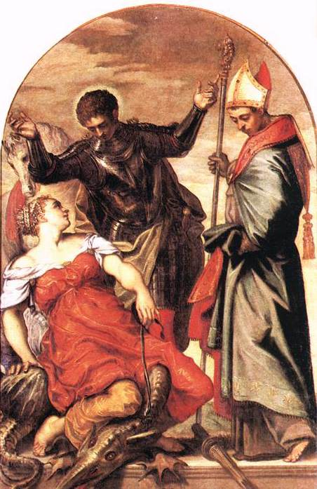 TINTORETTO St Louis St George and the Princess