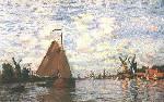The Zaan River at Zaandam - Claude Monet