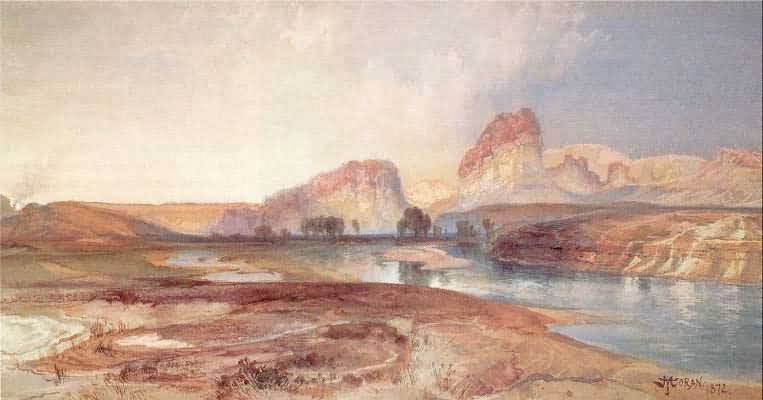 Thomas Moran Green River Cliffs Wyoming