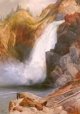 Thomas Moran Upper Falls Yellowstone