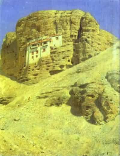 Vasily Vereshchagin Monastery in a Rock Ladakh