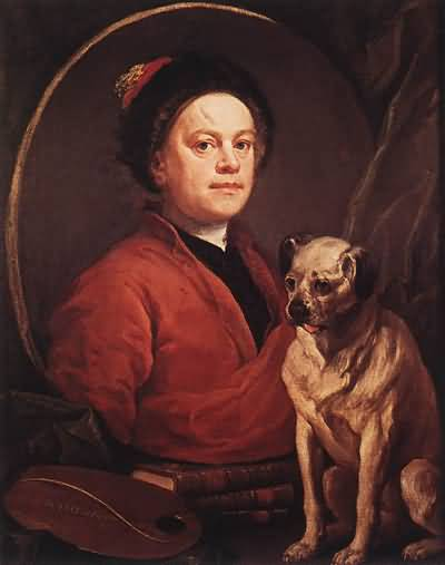 William Hogarth The Painter and his Pug