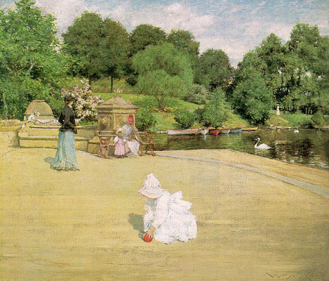 William Merrit Chase Early Morning Stroll