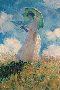 Woman With Parasol - Claude Monet
