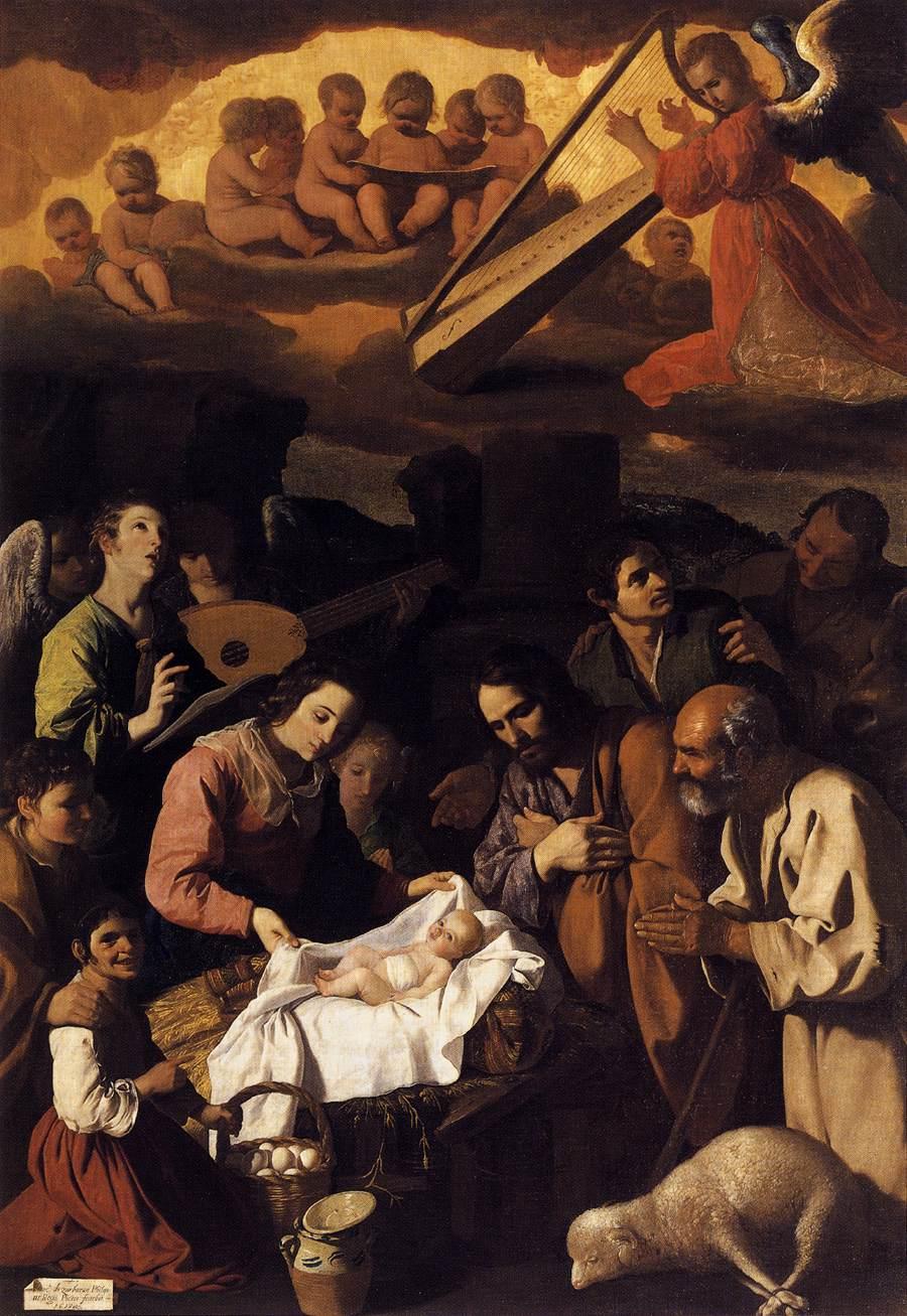 ZURBARAN Francisco de The Adoration of the Shepherds