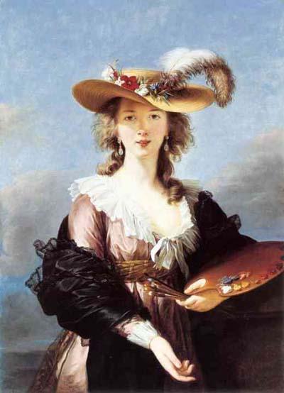 Louise Elisabeth Vigee Lebrun Self Portrait in a Straw Hat