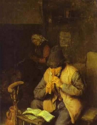 Adriaen van Ostade A Flute Player