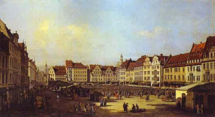 Bernardo Bellotto New Market Square in Dresden