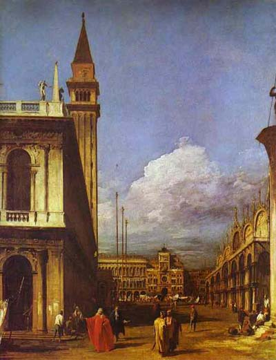 Canaletto The Piazzetta Looking North