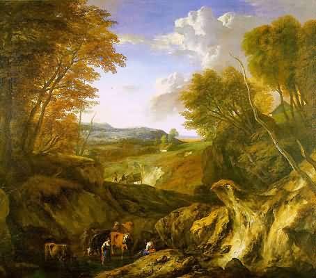 Corneille Huysmans Forested Landscape