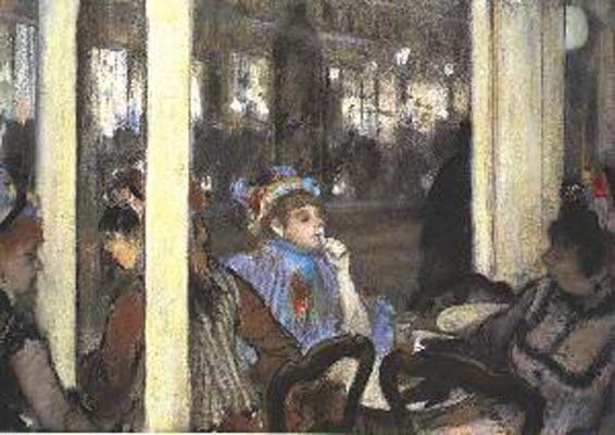 Edgar Degas Woman on a Cafe Terrace_ Evening