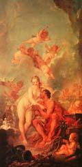 Francois Boucher The Visit of Venus to Vulcan