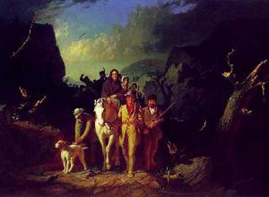 George Caleb Bingham Daniel Boone Escorting Settlers Through The Cumber