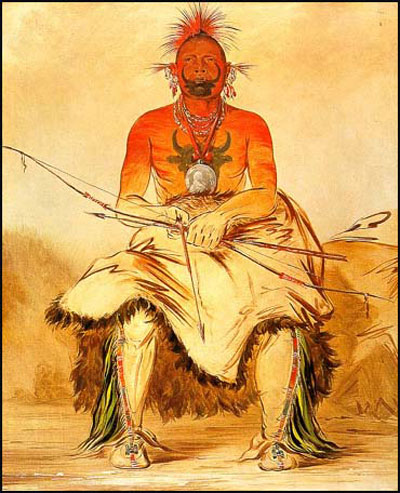 George Catlin Buffalo Bull A Grand Pawnee Warrior
