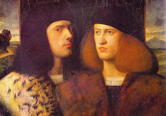 Giovanni Cariani Portrait of Two Young Men