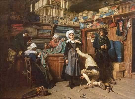 Henry Mosler Buying the Wedding Trousseau