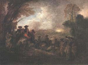 Jean Antoine Watteau The Line of March