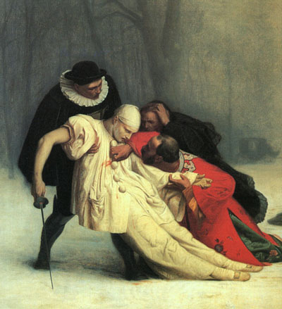 Jean Leon Gerome Duel after a Masked Ball