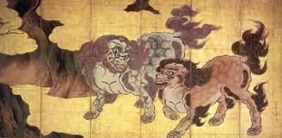 Kano Eitoku Chinese Lions