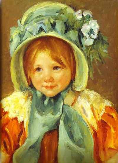 Mary Cassatt Sara in a Green Bonnet