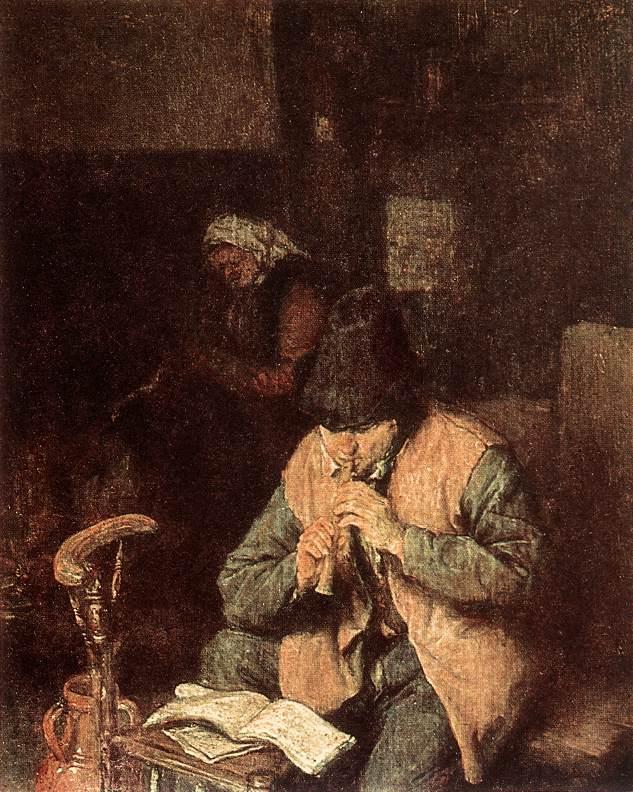 OSTADE Adriaen Jansz van Flute-Player