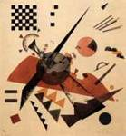Orange - Composition with Chessboard - Wassily Kandinsky