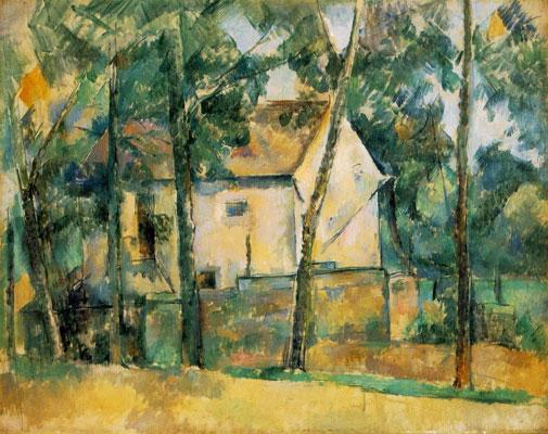 Paul Cezanne House And Trees (Maison Et Arbres)