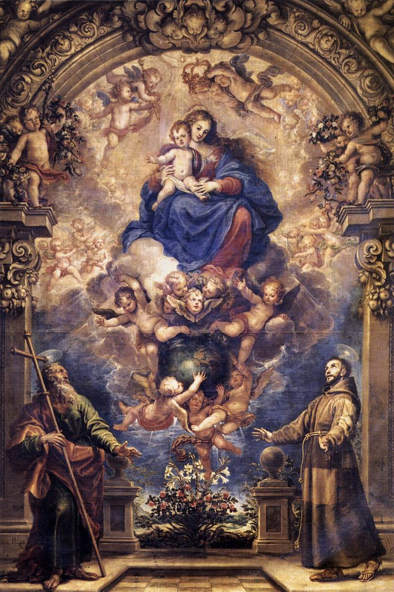RIZI Francisco Virgin and Child with Sts Philip and Francis