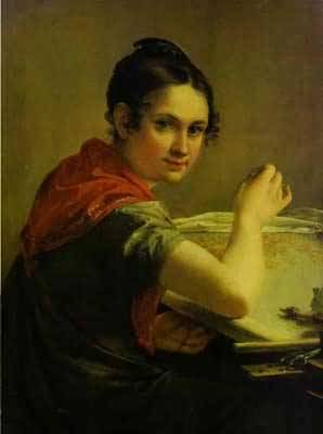 Vasily Tropinin Gold Embroideress