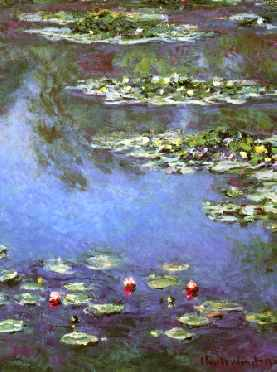 Water Lilies 1906 (portrait detail)