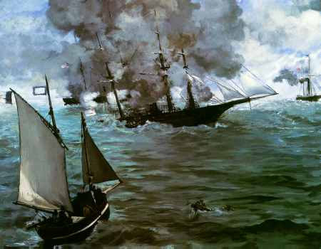 Battle of the Kearsarge and the Alabama (detail)