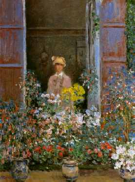 Camille Monet at the Window