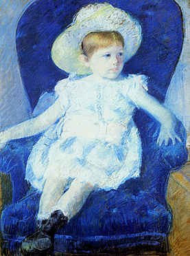 Elsie in a Blue Chair