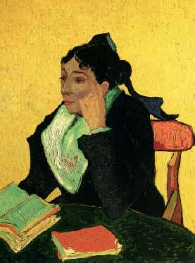 Madame Ginoux with Books