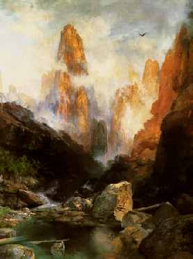 Mist in Kanab Canyon, Utah 1892