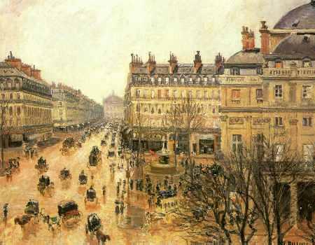 Place du Theatre Francais, Rain