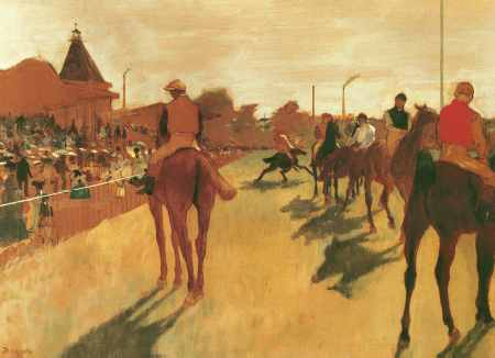 Racehorses Before the Stands