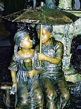 Statue of Children in the Rain