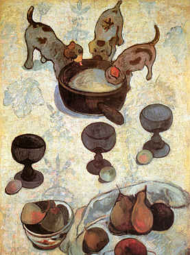 Still Life with Three Puppies (detail)