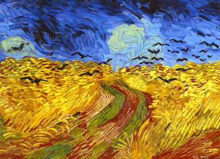 Wheat Field with Crows (detail)