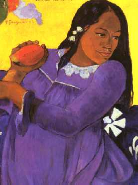 Woman with Mango