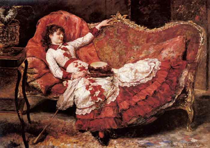 An Elegnat Lady in a Red Dress